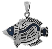 Jewellery Trends Sterling Silver Tropical Fish Pendant