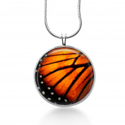 Butterfly Wing Necklace Pendant - Monarch, Handmade Jewellery, Anniversary, Birthday
