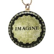 New York New York Handmade Women's Brass Altered Art Photo Locket Necklace