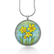 Yellow Daffodils Pendant Necklace ,Summer Jewellery , Flowers, Women, Garden