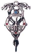 Staff of Myrddin for Second Sight Celtic Sorcery Amulet Talisman Pendant