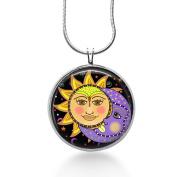 Sun and Moon Jewellery , Charm, Night, Beauty, Calm, Pendant Necklace