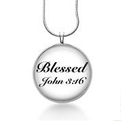 Blessed John 3:16 Necklace - Religion Handmade - Christian Jewellery