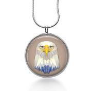 Eagle Watercolours Pendant Necklace - Bird Jewellery - Feathers