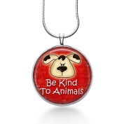 Animal Jewellery, Be Kind to Animals Necklace, Dog and Cat Pendant, Christmas Gifts