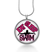 Swim Pendant Swim Necklace, Sports Jewellery, Swimming Pendant, Fashion Jewellery, Water Sports, Gifts,