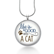 Cat Jewellery - Cat Necklace - Animal Jewellery - Kitten Necklace - Life Is Good with a Cat