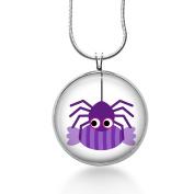 Spider Necklace- Purple Spider, Halloween Jewellery, Halloween Necklace