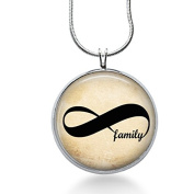 Forever Family Pendant Necklace, Eternal Pendant, Infinity, Fashion Jewellery, Handmade