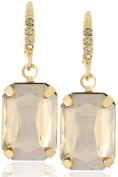 Square Crystal Glass Dangle Earrings by Lovey Lovey