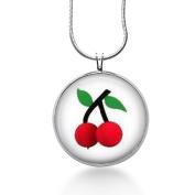 Cherries Necklace, Fruit Pendant,cherry, Cherries-statement Jewellery,fashion Jewellery
