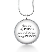 You Are My Person You Will Always Be My Person Necklace-couples Jewellery,inspirational,anniversary