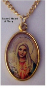 Immaculate Heart of Mary Medal Necklace