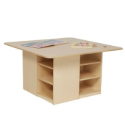 Wood Designs WD85009 Cubby Table without Trays, 20 x 90cm x 90cm