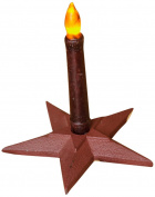 Your Hearts Delight Star Candle Holder, 17cm , Burgundy