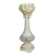 Essential Décor Entrada Collection Polyresin Candle Holder, 13cm by 37cm