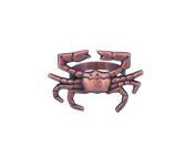 Hampton Nautical NR-12-C Antique Copper Crab Napkin Ring 7.6cm - Nautical Decor - Nautical Home Decoration