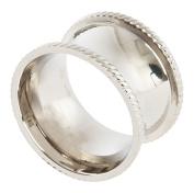 SARO LIFESTYLE NR440.S Shape Round Shape Napkin Rings (4 Pack), Silver