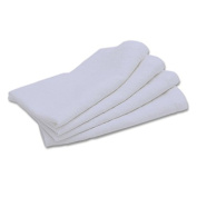 LinenMe X4 Napkins Stone Washed, 50cm by 50cm , Optical White