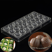 Grainrain Polycarbonate Chocolate Mould Clear Mould DIY Handmade Pastry Tools Semi Sphere Shaped