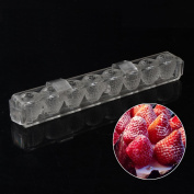 Grainrain 3D Strawberry DIY Mould Clear Tray Hard PC Chocolate Moulds Candy Jelly Mould