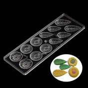 Grainrain Leafs and Flower Food Grade Clear Polycarbonate Plastic Hard Chocolate Mould