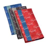 "Mahogany ""Pig"" Jacquard Kitchen Towel, 100Percent Cotton, Set of 3, Each 46cm by 70cm"