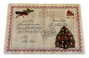 "Carnation Home Fashions ""Letter to Santa"" Holiday Placemat, Set of 4"