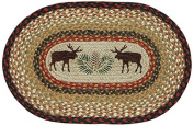Earth Rugs 48-019 Moose Pinecone Oval Placemat, 33cm by 48cm