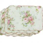 Textiles Plus Quilted Spring Rose Placemat