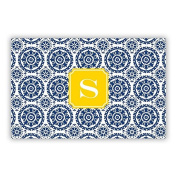 Boatman Geller Suzani Laminated Placemat with Single Initial, Y, Multicoloured