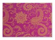 Mahogany Jaisalmer Jacquard Fused Reversible Placemats, 33cm by 48cm , Fuschia, Set of 4