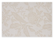 Mahogany Botanical Jacquard Fused Reversible Placemats, 33cm by 48cm , Beige