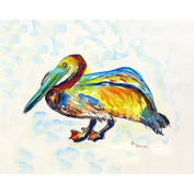 Betsy Drake Gertrude Pelican A Place Mat, Set Of 4