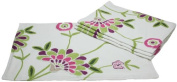 Manor Luxe Crewel Embroidered Floral Placemats, 36cm by 50cm , Violet, Set of 4