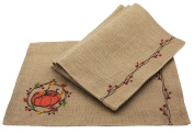 Manor Luxe Rustic Pumpkin Wreath Fall Placemats (Set of 4), 33cm x 46cm