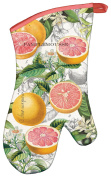 Michel Design Works Padded Cotton Oven Mitt, Pink Grapefruit