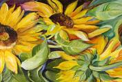 Caroline's Treasures JMK1122PLMT Sunflowers Fabric Placemat, Multicolor