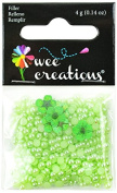 Wee Creations Pearl Beads and Natural Flowers, 4gm, Green