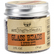 Creative Converting Finnabair Art Ingredients Glass Beads, 60ml, Licorice