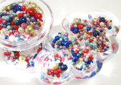Linpeng Round Glass Pearl Beads, Assorted Colours