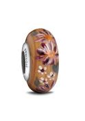 Fenton Glass Jewellery Bead, Floral Enchantment