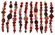 Jesse James Strand Beads, Assortment Red, Set of 10