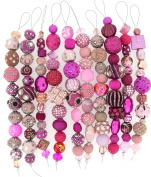 Jesse James Strand Beads, Assortment Pink, Set of 10