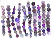 Jesse James Strand Beads, Assortment Purple, Set of 10
