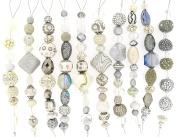 Jesse James Strand Beads, Assortment White, Set of 10