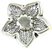 Midwest Design Imports Flower Slider Paracord Charm, Silver