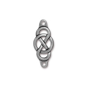 TierraCast Infinity Centre Charm, 14.8 x 35mm, Antique Pewter