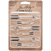 Arrows Adornments by Tim Holtz Idea-ology, 6 Charms per Pack, Various Sizes, Antique Nickel Finish, TH93127
