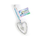 Cathedral Art KT605 Friend Please Be Safe Heart Car Charm, 18cm